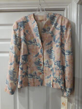 NWT VINTAGE COUNTRY SOPHISTICATES JACKET BLAZER SIZE 18 FLORAL CAMEO