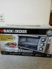 Black and Decker Stainless Steel Design 4 Slice Toaster Oven