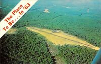 NJ West Milford GREENWOOD LAKE AIRPORT Aerial View Dexter Press postcard B2