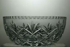 "BOHEMIA CRYSTAL ""BOC94"" CUT GLASS FRUIT AND SALAD BOWL"