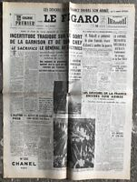 N129 La Une Du Journal Le Figaro 10 Mai 1954