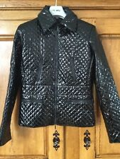 Bandolera ladies designer jacket size 14 black pvc
