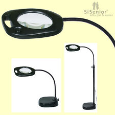 Standleselupe 21 LEDs Beleuchtung Lupenlampe Standlupe mit Licht Leselupe