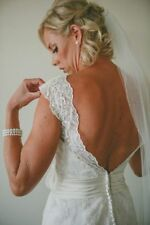Justin Alexander Lace V Neck Wedding Dresses