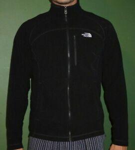 The North Face Polartec Fleece Jacket Men's Size Large Black Zip Up Size M