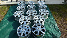 LOT OF 13 G.M. CADILLAC FACTORY ALLOY & CHROME RIMS 16' & 18' Lo$ PICK-UP ONLY!!