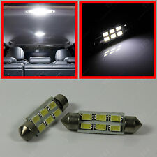"2x White 6-SMD LED Bulbs for Car Interior Dome Lights 1.72"" Festoon 211-2 578"