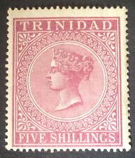Timbre trinidad, n°43, 5 shillings lillas, x, TB, cote 60e.