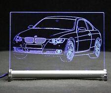BMW 3 E92 335 Coupe  als AutoGravur auf LED Leuchtschild