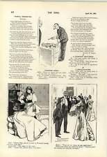 1900 Adam And Eve No Jealousy Painting Cat Execution Cartoon