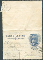 FRANCE Military Postal Stationery 1915 Used VF