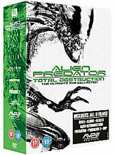 ALIEN PREDATOR : TOTAL DESTRUCTION ULTIMATE DVD COLLECTION IN VGC (FREE UK P&P)