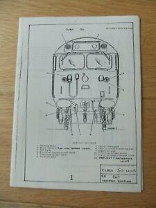 British Railways Western Region English Electric Class 50 Drivers Manual