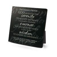"Serenity Prayer Plaque, Metal, Philippians 4:13, 3.75"" x 3.75"", NIB"