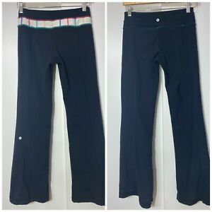 Lululemon Groove Women's Black  Reversible Flare Yoga Pants 6 Light Pilling