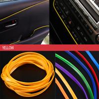 5M Yellow Car Flexible Interior Moulding Decorative Strip Trim DIY Accessories