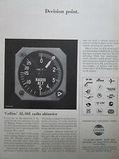 6/1966 PUB COLLINS RADIO AL-101 RADIO ALTIMETER AIRLINES UTA IBERIA LUFTHANSA AD