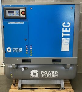 Power Systems G-TEC 1108 Receiver Mounted Rotary Screw Compressor + Dryer! 58Cfm