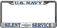 US NAVY SILENT SERVICE METAL LICENSE PLATE FRAME - MADE IN THE USA!!
