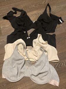 cacique bra lot 48dd black, nude, gray all great conditon unlined full coverage