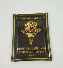 1963 Military Police Association Golf Day I BEAT ARNOLD PALMER MPA Glass Plate