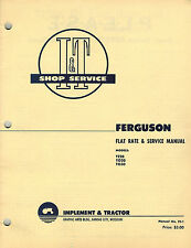FERGUSON VINTAGE TE20 TO20 TO30  TRACTOR I+T SHOP and FLAT RATE MANUAL FE-1