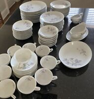 Rare vintage fine empress china wood vine 953 dinnerware set of 84 pieces for12p
