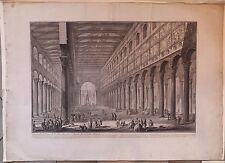 Giovanni Battista Piranesi Vue Intérieure St Paul hors les murs 1748 Eau-forte