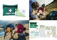 MINI FIRST AID KIT 43pcs Emergency Survival Pocket Bag Medical Hiking Car Home