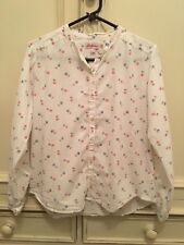 Cath Kidston Pink and Blue Flower Floral Shirt Size 8