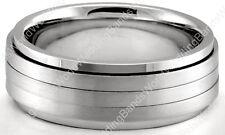 Men's Spinning Handmade Wedding Band Solid 14K Gold 8mm Wide Mens Wedding Ring