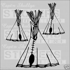 INDIAN TEEPEE Decals X3 Captn Skullys Stickers Online MPN 1321 Multipurpose