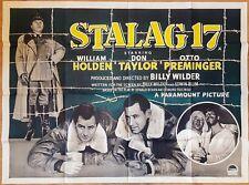 Stalag 17 (1953) British quad movie film poster World War Ii classic cinema