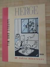 HERGE - 60 Jahre Abenteuer - Tim und Struppi Carlsen 1990  Hardcover