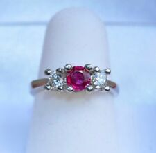 Fine Ruby & Diamond Engagement Wedding Ring