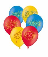 """Superhero Collection 12"""" Assorted Printed Latex Balloons By Party Decor 5 ct"""