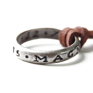 Uncharted Nathan Drakes Ring with Necklace Strap From Collectors Edition