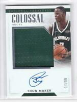2017-18 Thon Maker #/99 Auto Jersey Panini National Treasures Bucks CJA-TMK