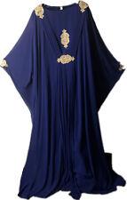 Dubai Style blue kaftan farasha Jalabiya maxi dress abaya Free Size