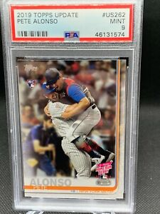 2019 Topps Update Pete Alonso #US262  Rookie Card Mets PSA 9 Mint Home run derby