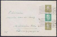 Deutsches Reich Zusammendruck S 45 MiF mit Vignette Essen Ausstellung Brief 1933