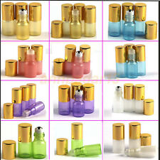 2 - 10 pcs 3ml Glass Roll on Bottles Essential Oil Perfume Metal or Glass Roller
