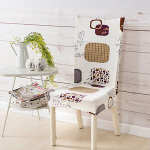 Floral Printed Elastic Stretch Chair Cover for Banquet Wedding Restaurant Hotel