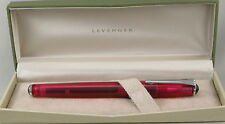 Levenger True Writer Pinkly Pink Transparent Rollerball Pen - New In Box