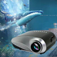 12V/2A 25W Mini Projektor LED 3D Full HD 1080P Heimkino Beamer USB VGA TV AV