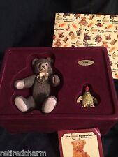 ❤STEIFF Orginal TEDDY w Penguin Collectn by Enesco 1996 Porcelain COA Lt Ed NEW❤