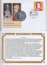 Bund 10 EURO Numisbrief 250. Geburtstag Mozart 2006, BRD