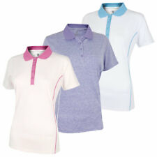 Island Green Womens Golf IGLTS1882 Contrast Piping Polo Shirt 42% OFF RRP