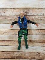 """1996 Hasbro Pawtucket G.I. Joe 12"""" Action Figure Blue Eyes Camo Face"""