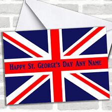 St George's Day British Flag Union Jack Personalised Card